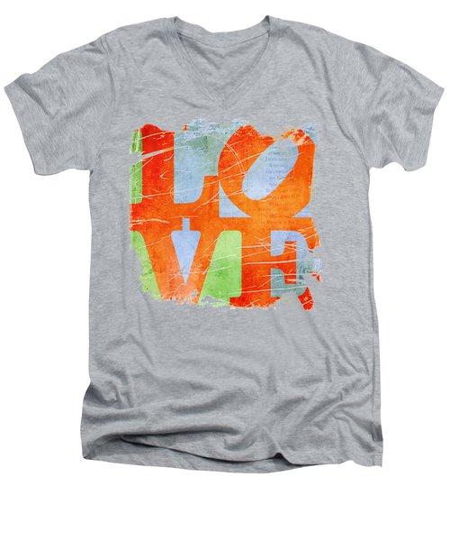 Iconic Love - Grunge Men's V-Neck T-Shirt