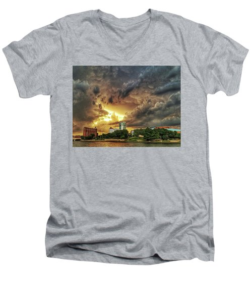 Ict Storm - From Smrt-phn L Men's V-Neck T-Shirt