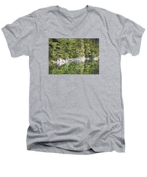 Icy Lake Reflections Men's V-Neck T-Shirt