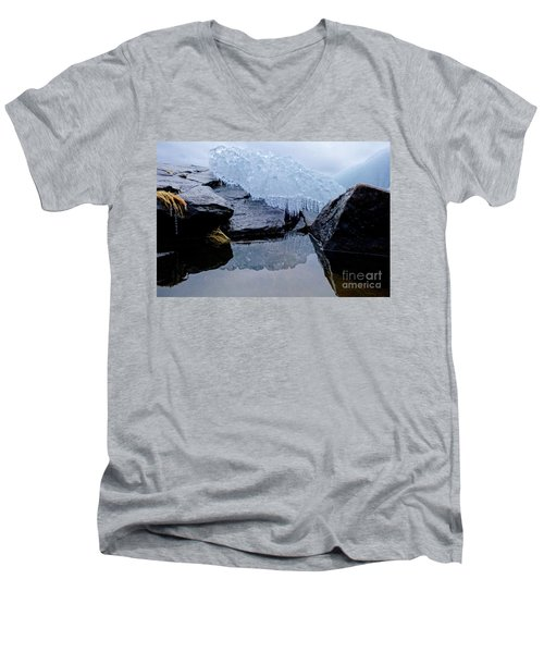 Icy Reflections Men's V-Neck T-Shirt