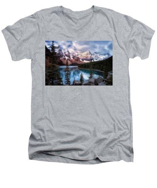 Icy Stillness Men's V-Neck T-Shirt by Nicki Frates