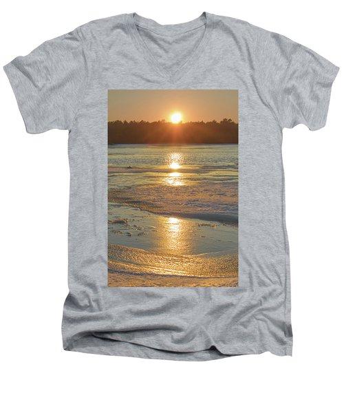Icy Sunset Men's V-Neck T-Shirt
