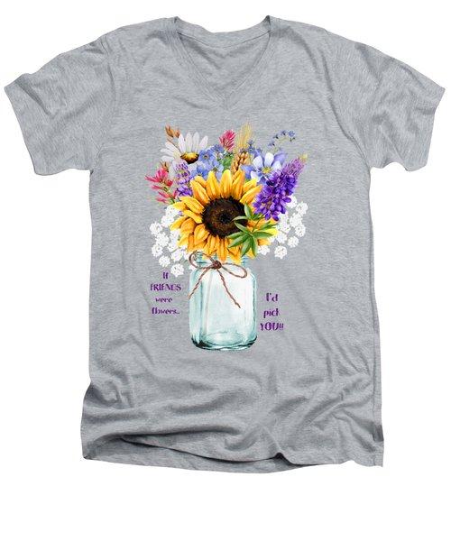 I'd Pick You Men's V-Neck T-Shirt