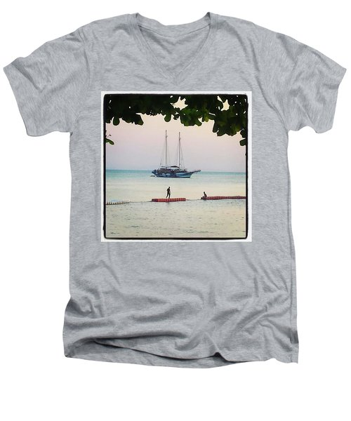 Men's V-Neck T-Shirt featuring the photograph Idyllic Setting To Idle The Time Away by Mr Photojimsf