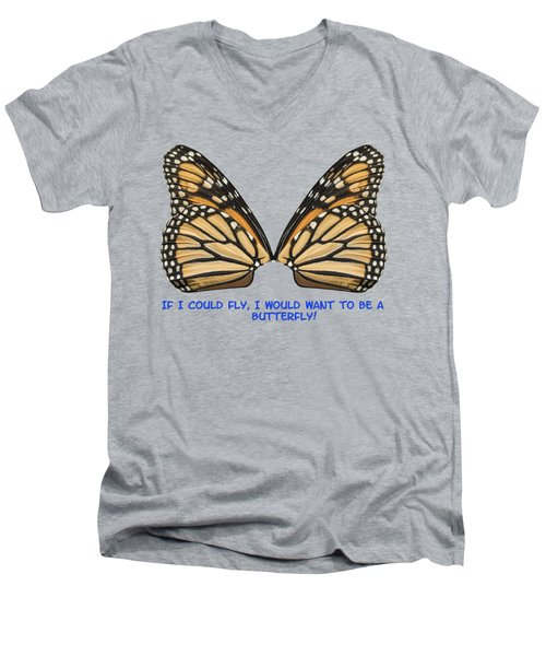 Men's V-Neck T-Shirt featuring the photograph If I Could Fly by Thomas Young
