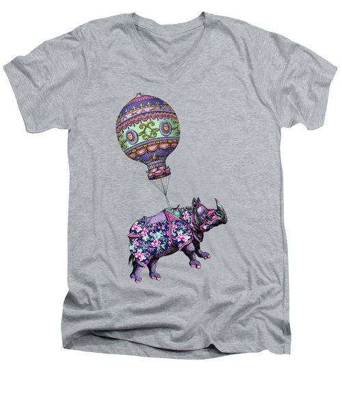 If Rhinos Could Fly Men's V-Neck T-Shirt