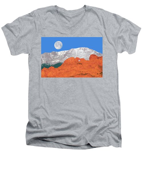 If You're Lucky Enough To Live In The Mountains, You're Lucky Enough.  Men's V-Neck T-Shirt by Bijan Pirnia