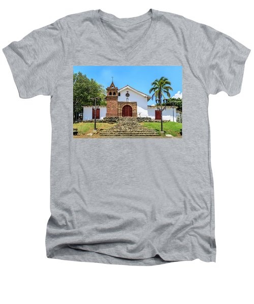 Iglesia De San Antonio Men's V-Neck T-Shirt