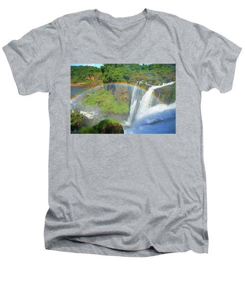 Iguazu Rainbow Men's V-Neck T-Shirt