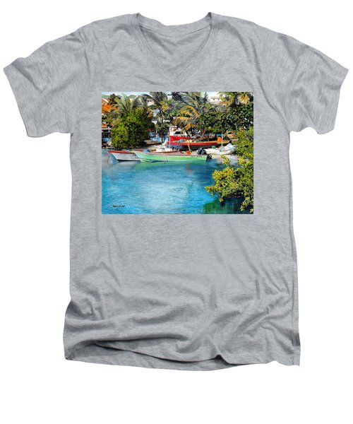Iles Des Saintes Men's V-Neck T-Shirt