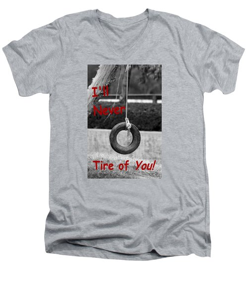 Men's V-Neck T-Shirt featuring the photograph I'll Never Tire Of You by Bob Pardue