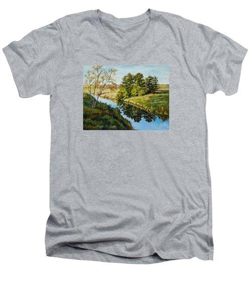 Illinois Countryside  Men's V-Neck T-Shirt