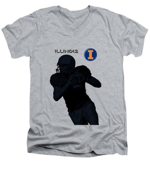 Illinois Football Men's V-Neck T-Shirt