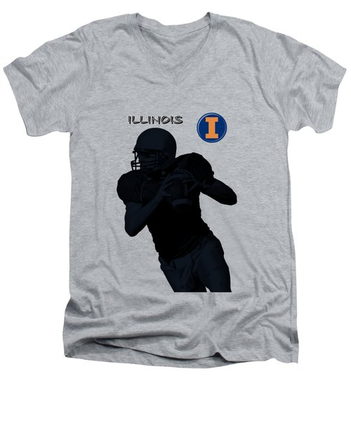 Illinois Football Men's V-Neck T-Shirt