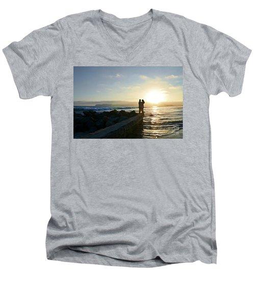Illuminate  Men's V-Neck T-Shirt by Sharon Soberon