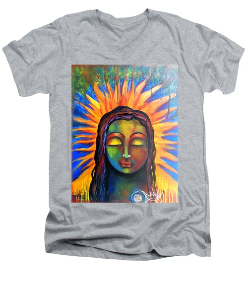 Illuminated By Her Own Radiant Self Men's V-Neck T-Shirt