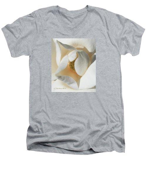 Illuminated Magnolia Macro Men's V-Neck T-Shirt