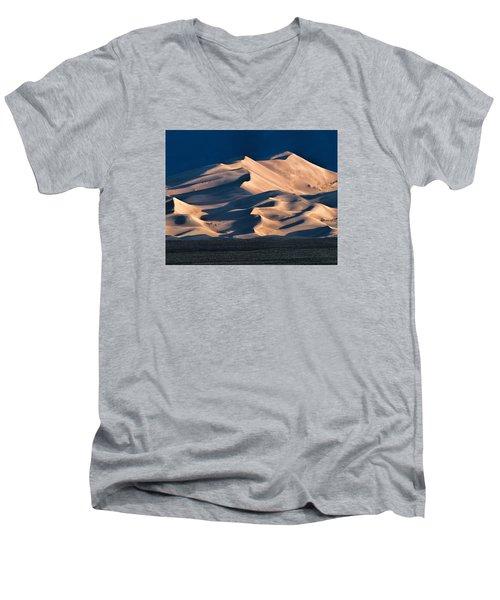 Illuminated Sand Dunes Men's V-Neck T-Shirt