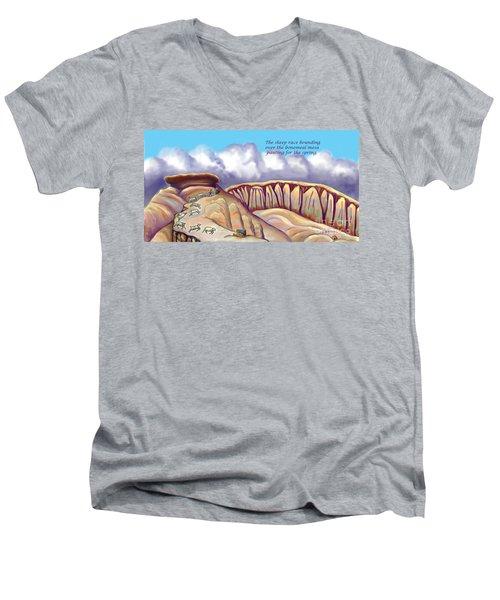 Illustrated Haiku 2 - Age 17 Men's V-Neck T-Shirt by Dawn Senior-Trask