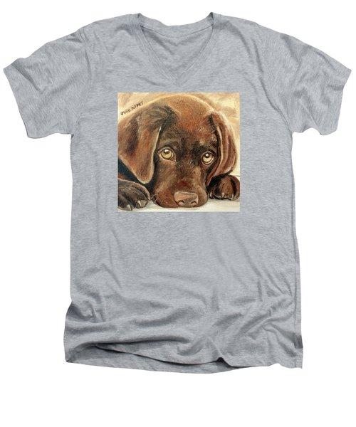I'm Sorry - Chocolate Lab Puppy Men's V-Neck T-Shirt