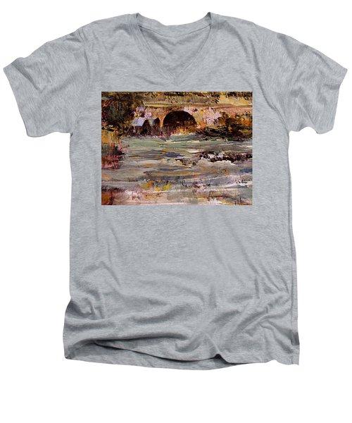 Imaginary Travel Men's V-Neck T-Shirt by Nancy Kane Chapman