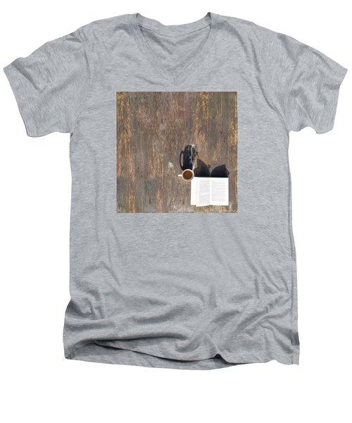 Imagination Men's V-Neck T-Shirt by Vincent Lee