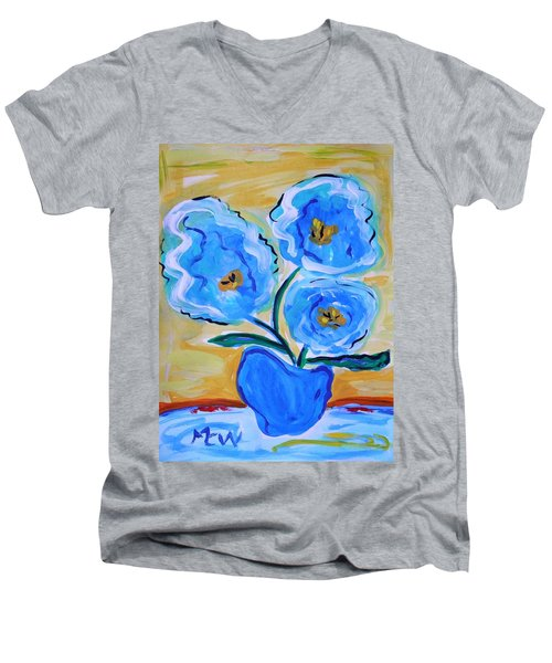 Imagine In Blue Men's V-Neck T-Shirt
