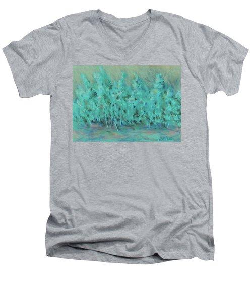 Imagine Men's V-Neck T-Shirt by Lee Beuther
