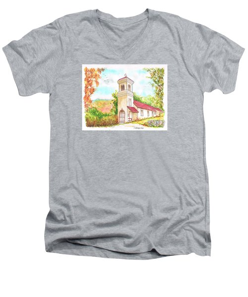 Immaculate Concepcion Catholic Church, Sierra Nevada, California Men's V-Neck T-Shirt