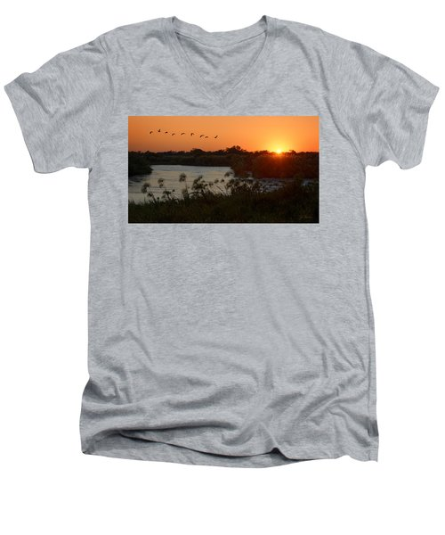 Impalila Island Sunrise Men's V-Neck T-Shirt