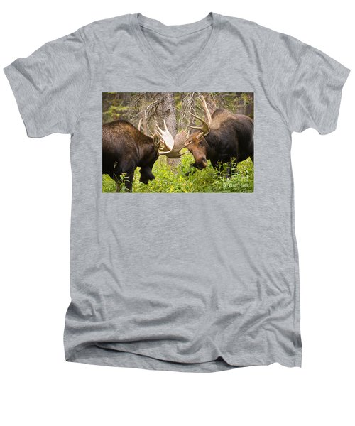 Men's V-Neck T-Shirt featuring the photograph The Approach  by Aaron Whittemore