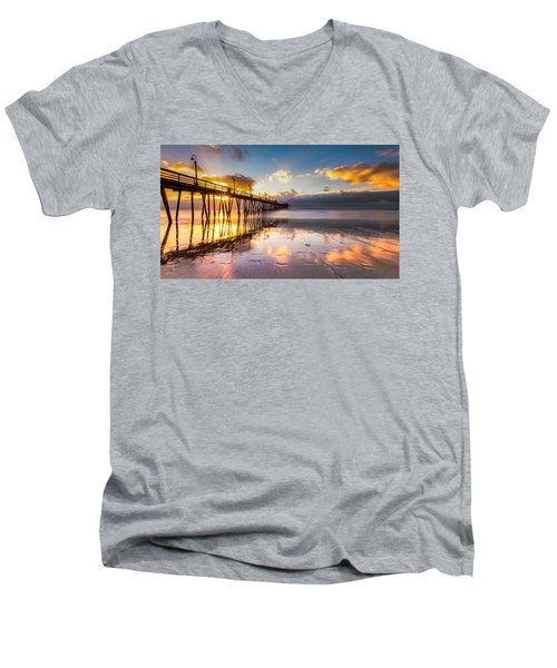 Men's V-Neck T-Shirt featuring the photograph Imperial Burst by Ryan Weddle