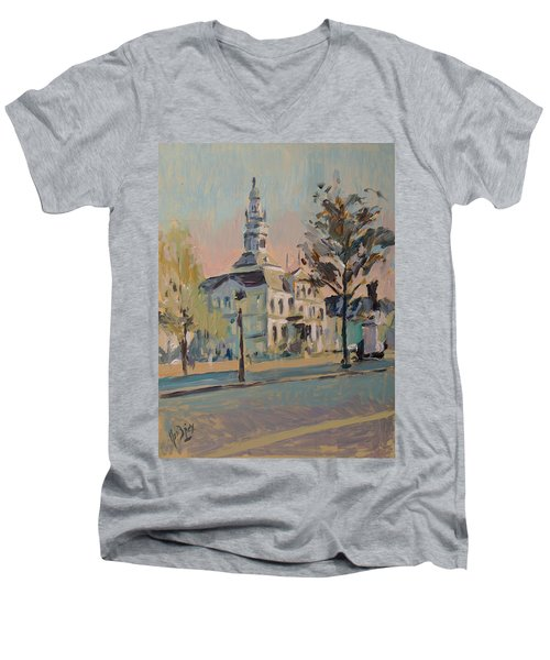 Impression Soleil Maastricht Men's V-Neck T-Shirt by Nop Briex