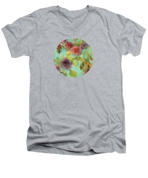 Impressionist Floral  Men's V-Neck T-Shirt