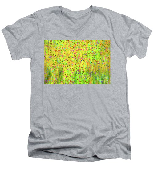 Impressionist Meadow Men's V-Neck T-Shirt by Silvia Ganora