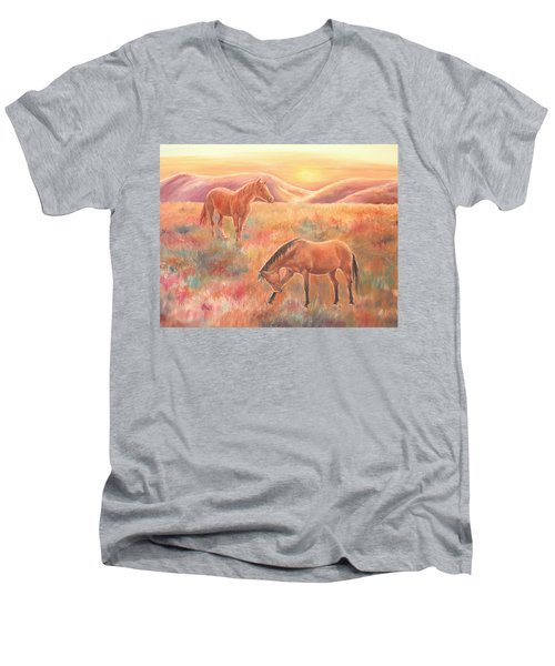 Impressions At Sunset Men's V-Neck T-Shirt
