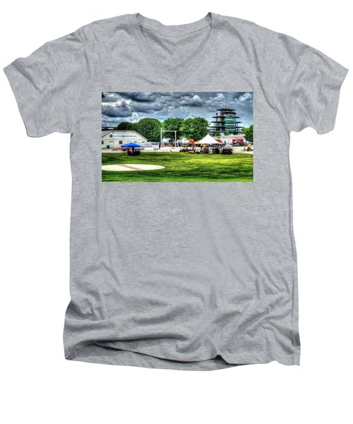 Ims Hospital  Men's V-Neck T-Shirt by Josh Williams