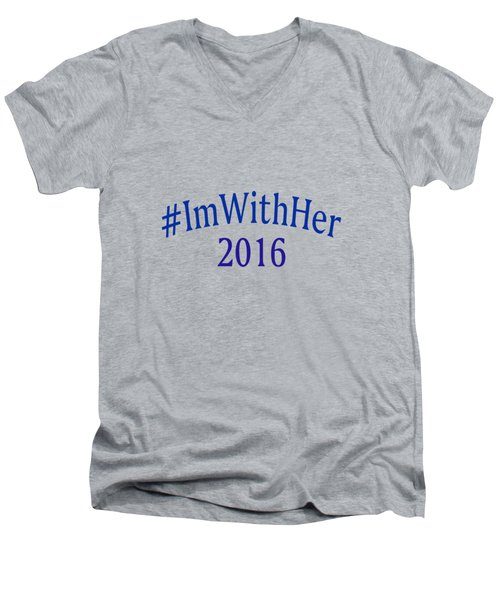 Imwithher Men's V-Neck T-Shirt by Bill Owen