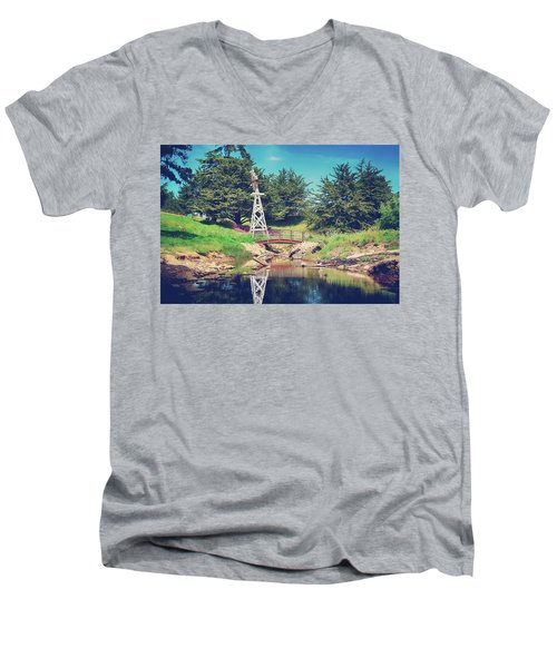 In A Perfect World Men's V-Neck T-Shirt by Laurie Search