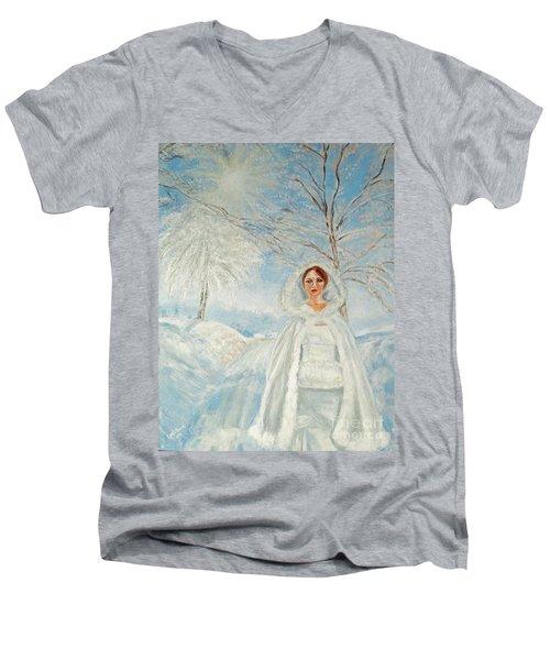 In Beauty I Walk Men's V-Neck T-Shirt
