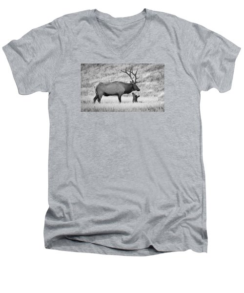 In Charge Men's V-Neck T-Shirt by Kelly Marquardt