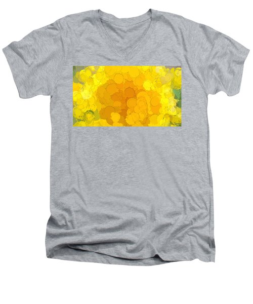 In Color Abstract 14 Men's V-Neck T-Shirt
