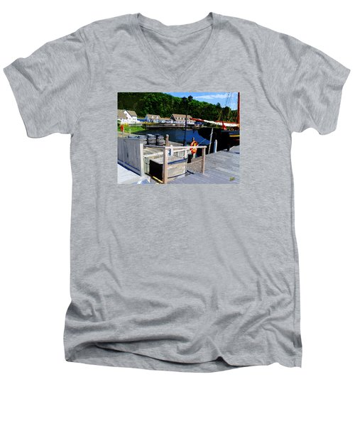 In Discovery Harbor Men's V-Neck T-Shirt