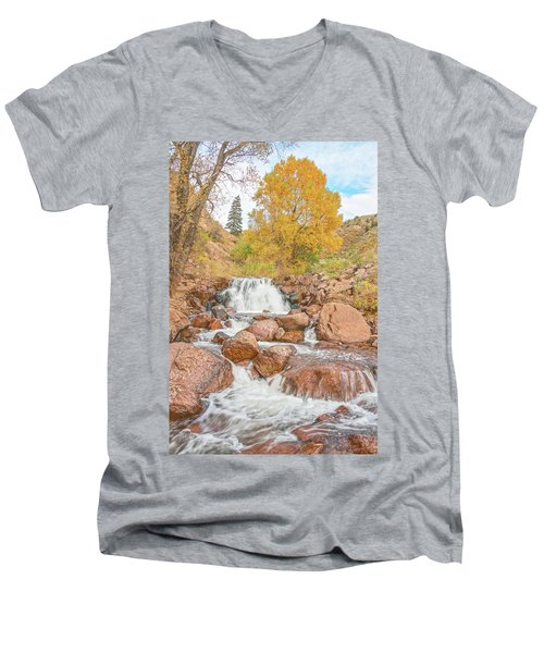 In Every Walk With Nature, One Receives Far More Than He Seeks, Wrote John Muir.  Men's V-Neck T-Shirt