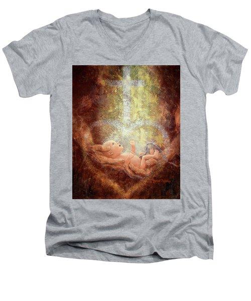 In His Hands Men's V-Neck T-Shirt