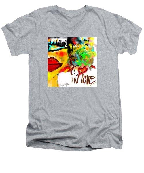 In Love  Men's V-Neck T-Shirt by Sladjana Lazarevic