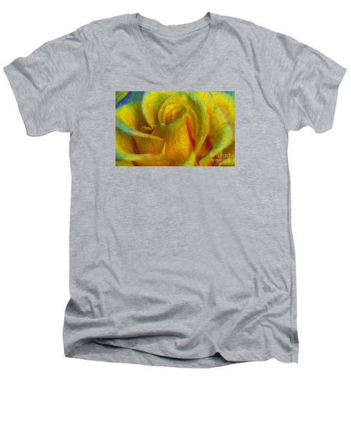 Men's V-Neck T-Shirt featuring the photograph In Memory Of Vincent by John  Kolenberg