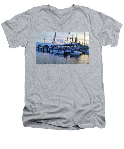 In My Dreams Sailboats Men's V-Neck T-Shirt