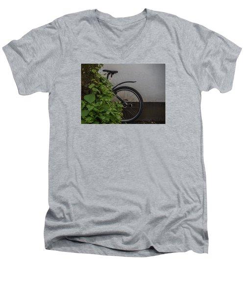 In Park Men's V-Neck T-Shirt by Odd Jeppesen