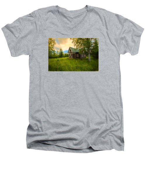 Men's V-Neck T-Shirt featuring the photograph In Peace In Your Grace by Rose-Maries Pictures